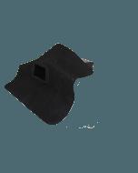 EPDM-Regenwasserablauf 60 mm x 80 mm 90° Auslaufwinkel
