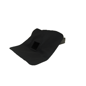 EPDM-Regenwasserablauf 60 mm x 80 mm 45° Auslaufwinkel