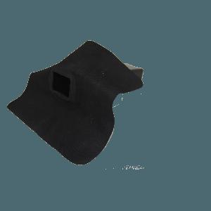 EPDM Regenwasserabfluss - Durchmesser 60 mm x 100 mm - Auslaufwinkel 90°